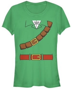 Fifth Sun Nintendo Women's Zelda Basic Link Costume Belt Tunic Short Sleeve Tee Shirt