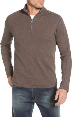 Robert Graham Gold Rush Quarter Zip Cotton Sweater
