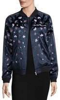 Opening Ceremony Embellished Silk Varsity Jacket