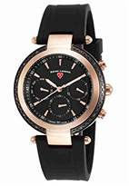 Swiss Legend Women's 'Madison' Swiss Quartz Stainless Steel and Silicone Casual Watch, Color:Black (Model: 16175SM-RB-01)
