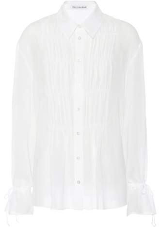 Altuzarra Chateau gathered pintuck blouse