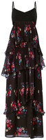 Tanya Taylor Printed Pleat Chiffon Gown