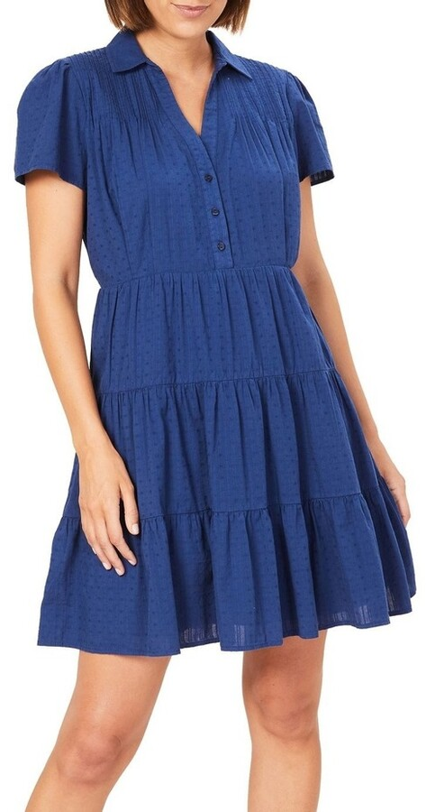 French Connection Tiered Cotton Dress