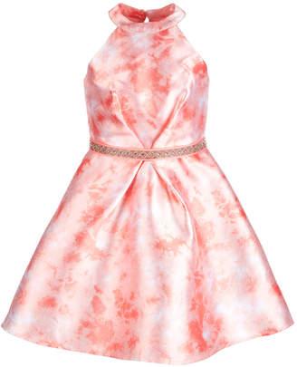 Sequin Hearts Big Girls Jewel Belt Dress