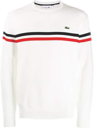 Lacoste logo stripe pullover