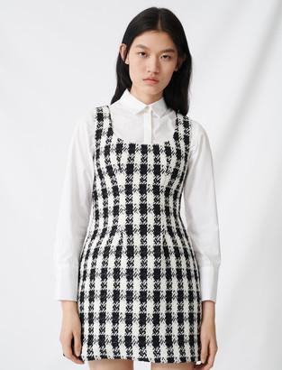 Maje Tweed-style sleeveless dress