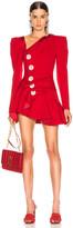 Raisa&Vanessa RAISA&VANESSA Beaded Ruffled Mini Dress in Red | FWRD