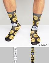 Asos Socks With Star Wars Print 2 Pack
