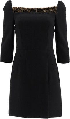 Dolce & Gabbana Wool Crepe Mini Dress