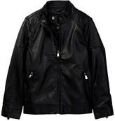 Urban Republic Faux Leather Jacket (Big Boys)