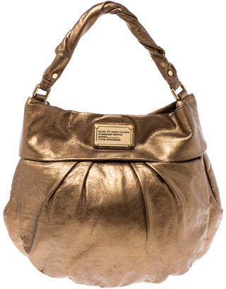 Marc by Marc Jacobs Metallic Gold Leather Classic Q Hillier Hobo