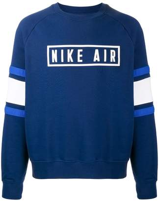 Nike horizontal-panels logo sweatshirt