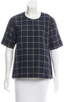 Kule Linen-Blend Check Top w/ Tags