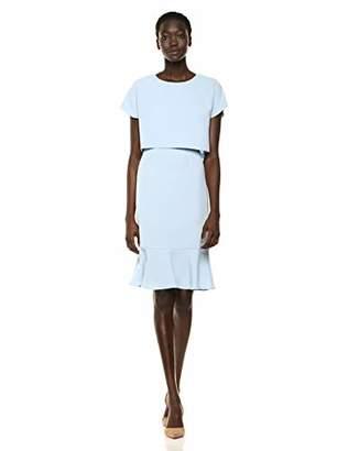 Adrianna Papell Women's Cameron Woven POP-Over Dress