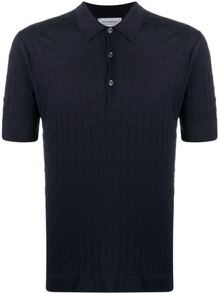 John Smedley Textured Knitted Polo Shirt
