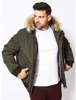 Burton - Big & Tall Khaki Acorn Short Parka Jacket