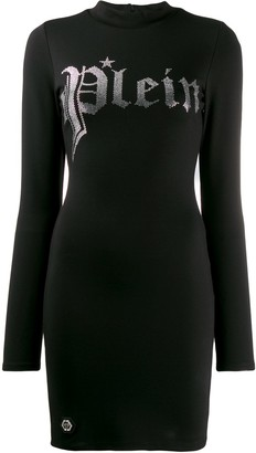 Philipp Plein gothic Plein jersey dress