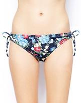 Marie Meili Mauritius Floral Side Tie Bikini Bottoms