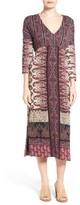 Lucky Brand Women's Tie Waist Knit Midi Dress