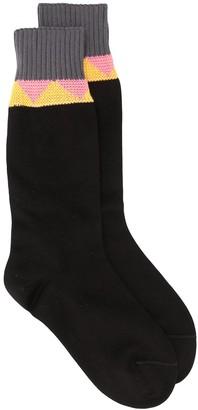 Prada Chevron Stripe Ankle Socks