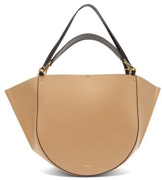Wandler Mia Large Leather Tote Bag - Womens - Beige