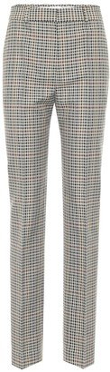 Victoria Victoria Beckham Checked high-rise slim pants