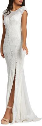 Mac Duggal Lace Four Way Stretch Sheath Gown