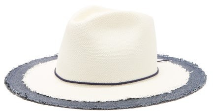 c464d1ee4 House Of Jimmy Straw Panama Hat - Womens - Navy