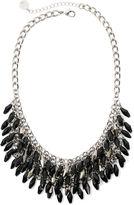 Liz Claiborne Black Stone Silver-Tone Shaky Shower Necklace