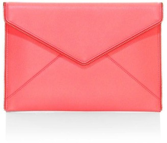 Rebecca Minkoff Leo Neon Leather Envelope Clutch
