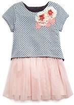Pippa & Julie Girls' Polka Dot Popover Tutu Dress - Sizes 2-6X