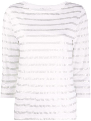 Majestic Linen Blend Striped T-shirt