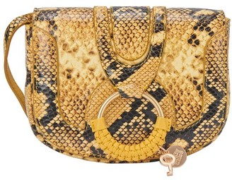 See by Chloe Mini Hana bag embossed python