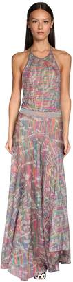 Missoni LUREX KNIT HALTER NECK DRESS