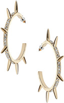 Stone Spike Hoop Earrings