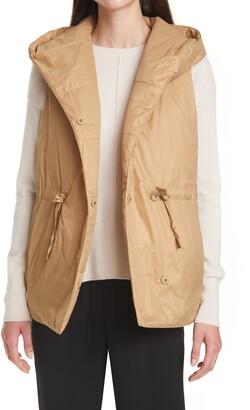 Eileen Fisher Recycled Nylon Hooded Vest