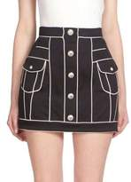 Balmain Button-Front Mini Skirt
