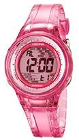 Calypso Women's Digital Watch with Pink Dial Digital Display and Pink Plastic Strap K5688/2