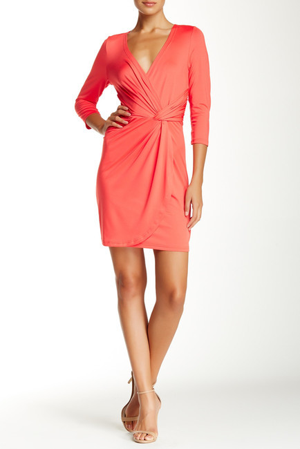 Julie Brown Dixon Silver Star Surplice Dress
