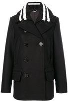 Givenchy ribbed collar coat - women - Cotton/Polyamide/Viscose/Wool - 36