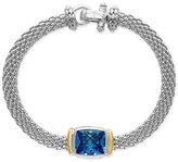 Effy Ocean Bleu Blue Topaz Bracelet (6-3/4 ct. t.w.) in Sterling Silver and 18k Gold