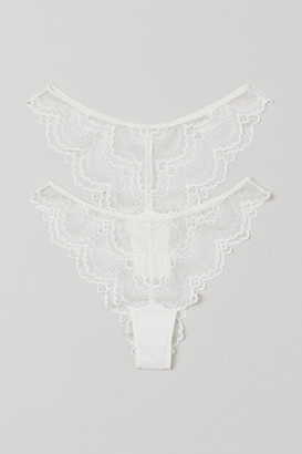 H&M 2-pack Lace Brazilian Briefs