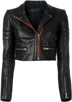 Haider Ackermann Miza biker jacket - women - Cotton/Calf Leather/Rayon - 38