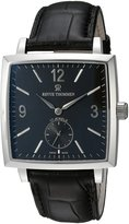 Revue Thommen 17085.3537 Men's Classical 82 Carre Cambre Wrist Watch, Dial with Black Band