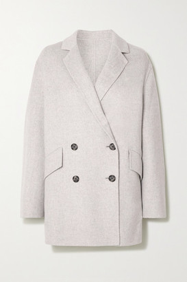 Joseph Milburn Double-breasted Wool And Cashmere-blend Coat - Gray