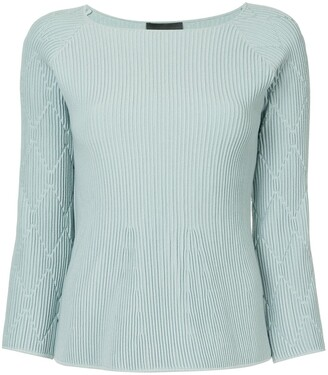 Emporio Armani Diamond-Knit Ribbed Top