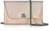 Akris Anouk Pale Rose Horsehair and Leather Clutch w/Chain