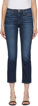 Frame Navy Le High Straight Jeans