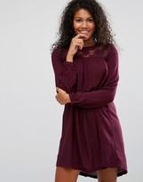 Brave Soul Crochet Neck Smock Dress