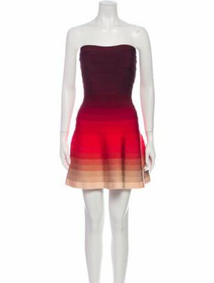 Herve Leger Lake Mini Dress Red